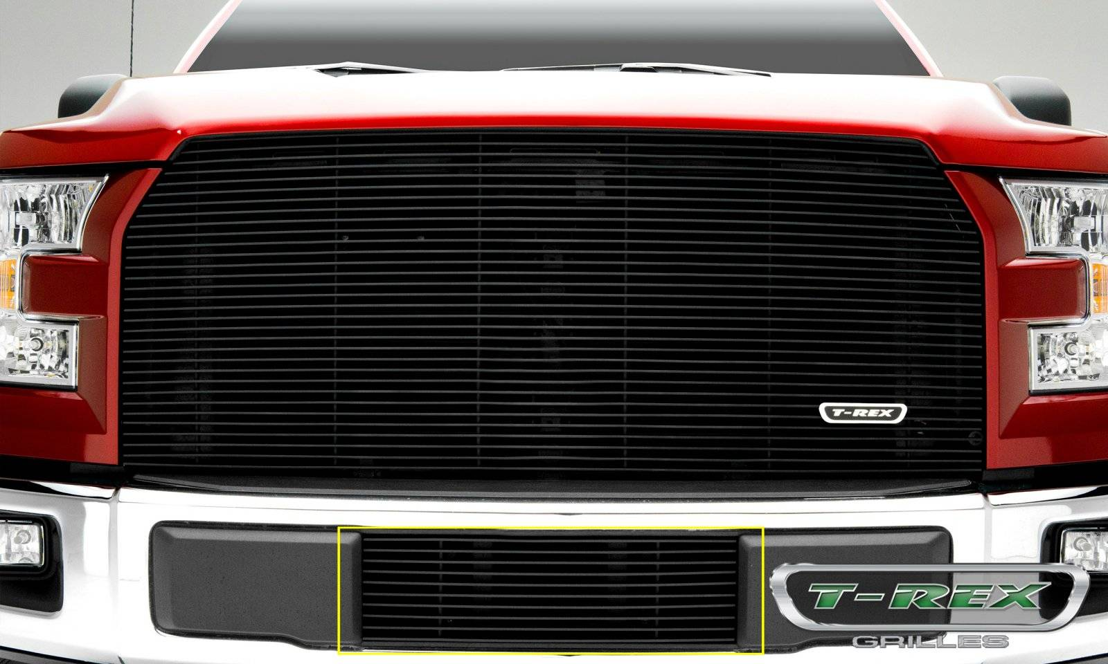Ford F-150 - Billet Series - Bumper Grille with Black Powdercoat Finish - Pt # 25573B