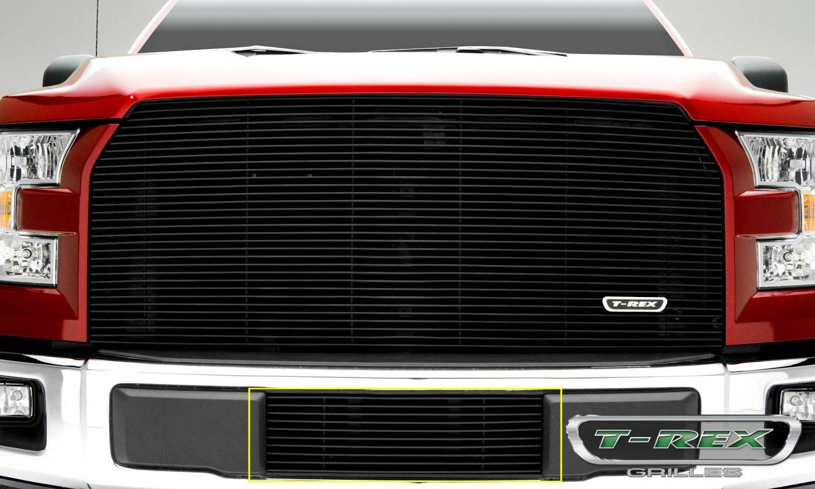 T-REX Grilles - 2015-2017 F-150 Billet Bumper Grille, Black, 1 Pc, Insert - PN #25573B