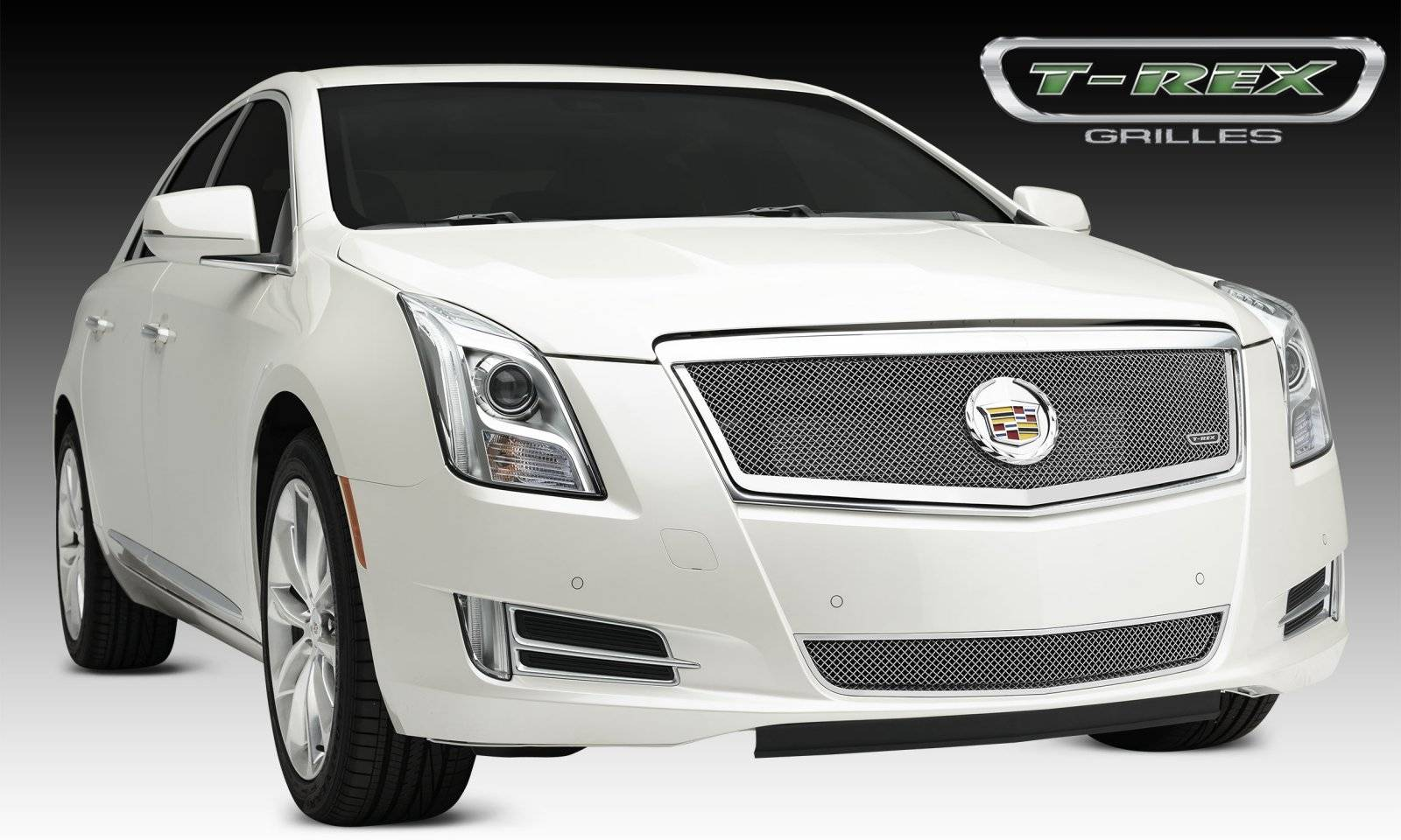 T-REX Grilles - 2013-2014 Cadillac XTS Upper Class Grille, Polished, 1 Pc, Replacement, Full Opening - PN #54173