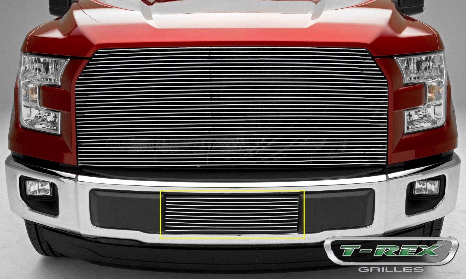 T-REX Ford F-150 V8 and Eco Boost - Billet Series - Bumper Grille with Polished Aluminum Finish - Pt # 25573