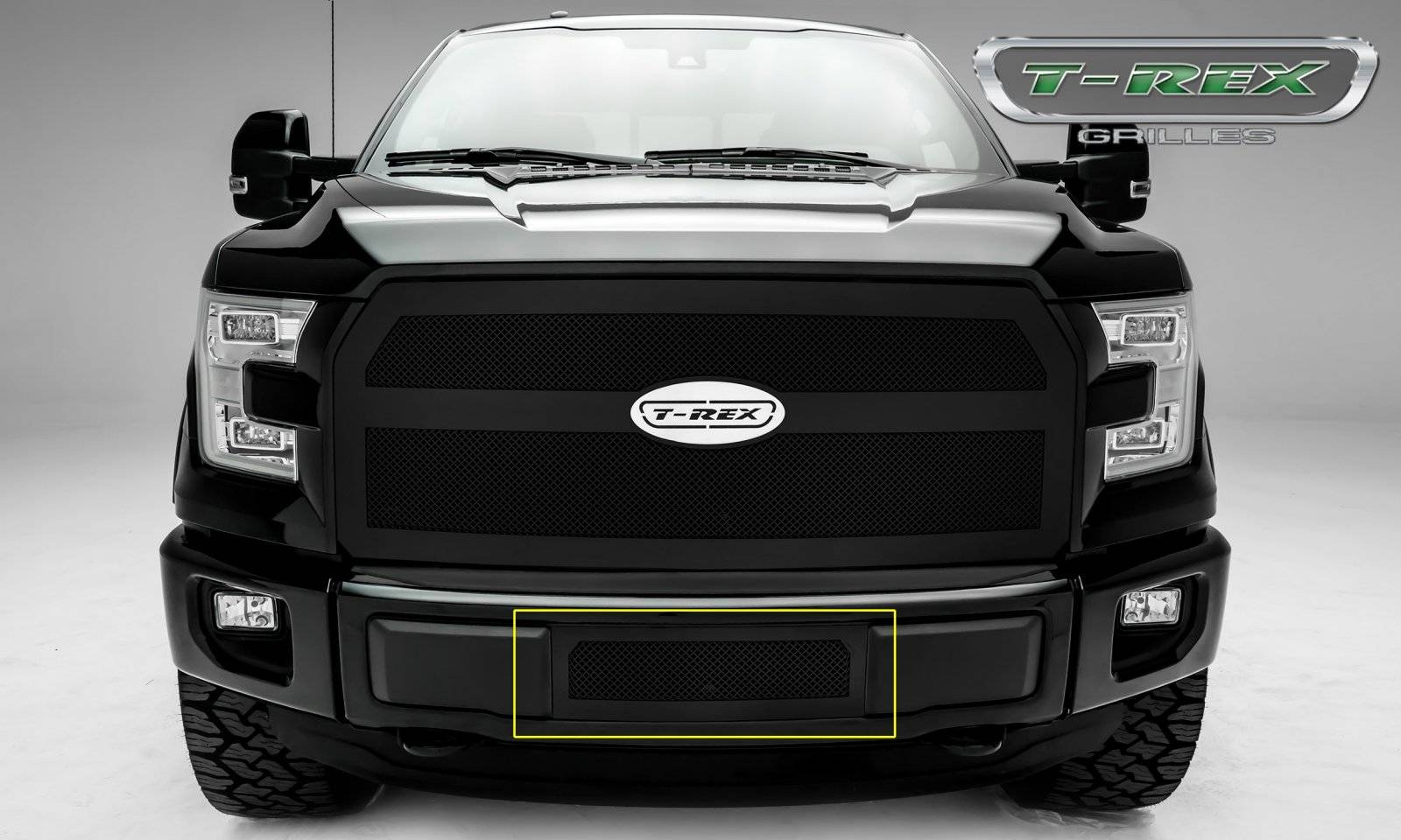 T-REX Ford F-150 - Upper Class Series - Bumper Grille with Black Powdercoat Finish - Pt # 52573