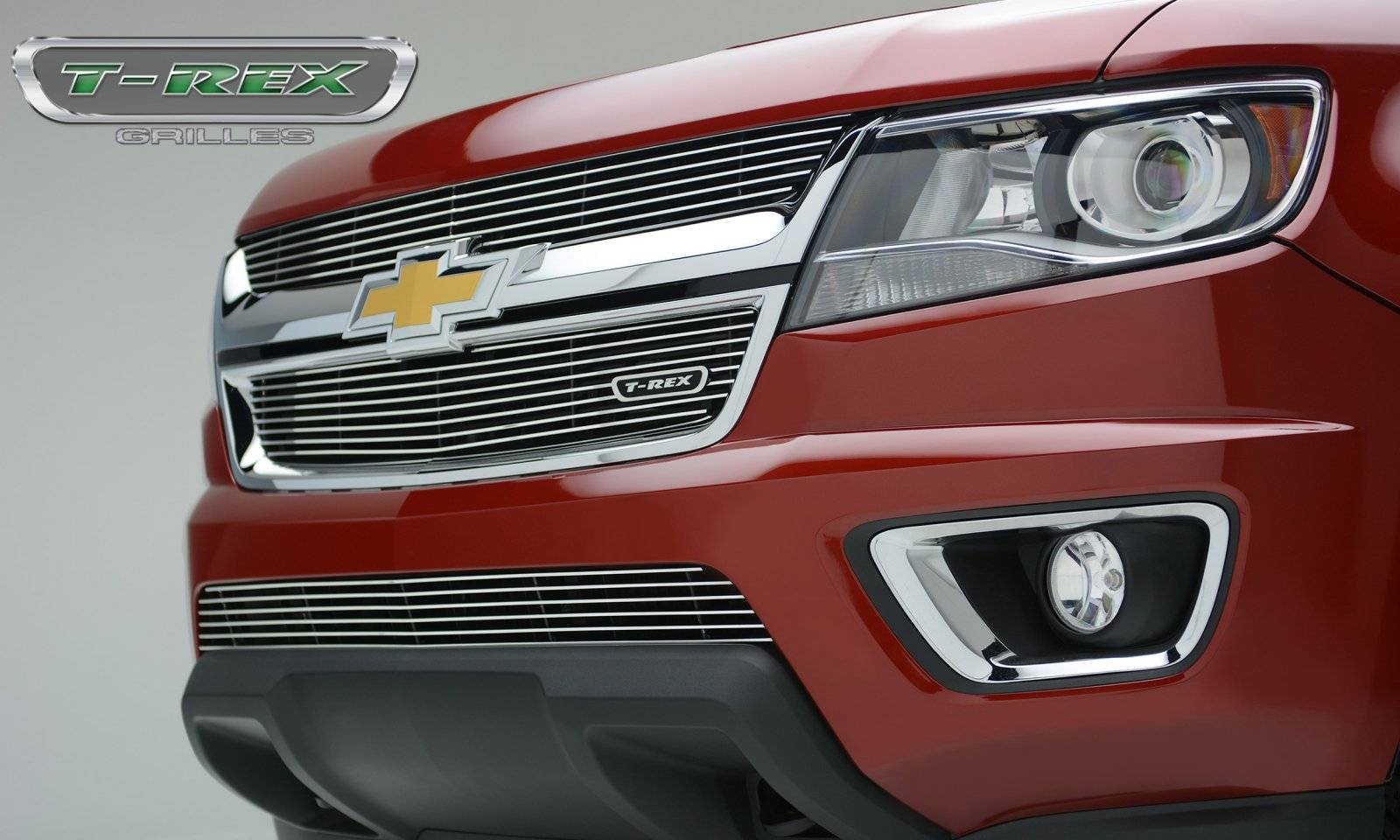 T-REX Grilles - Chevrolet Colorado - Billet Series - Main Grille - Overlay with Polished Aluminum Face - Pt # 21267