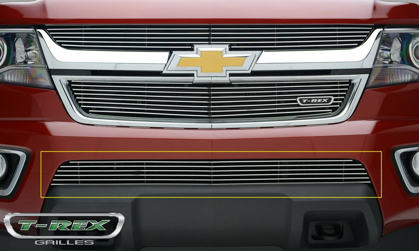 T-REX Chevrolet Colorado - Billet Series - Bumper Grille - Overlay with Polished Aluminum Face - Pt # 25267