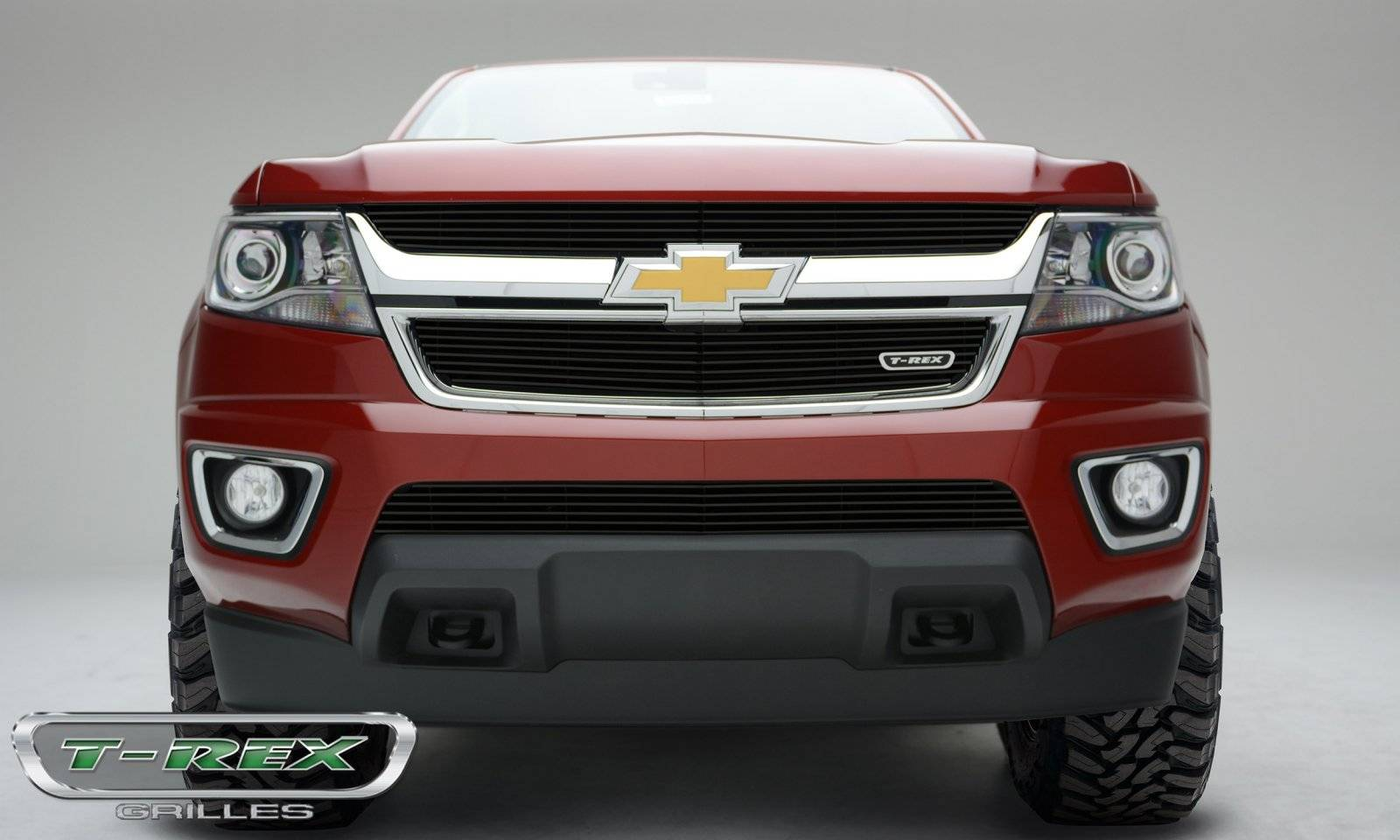 T-REX Grilles - Chevrolet Colorado - Billet Series - Main Grille - Overlay with Black Powdercoat Finish - Pt # 21267B