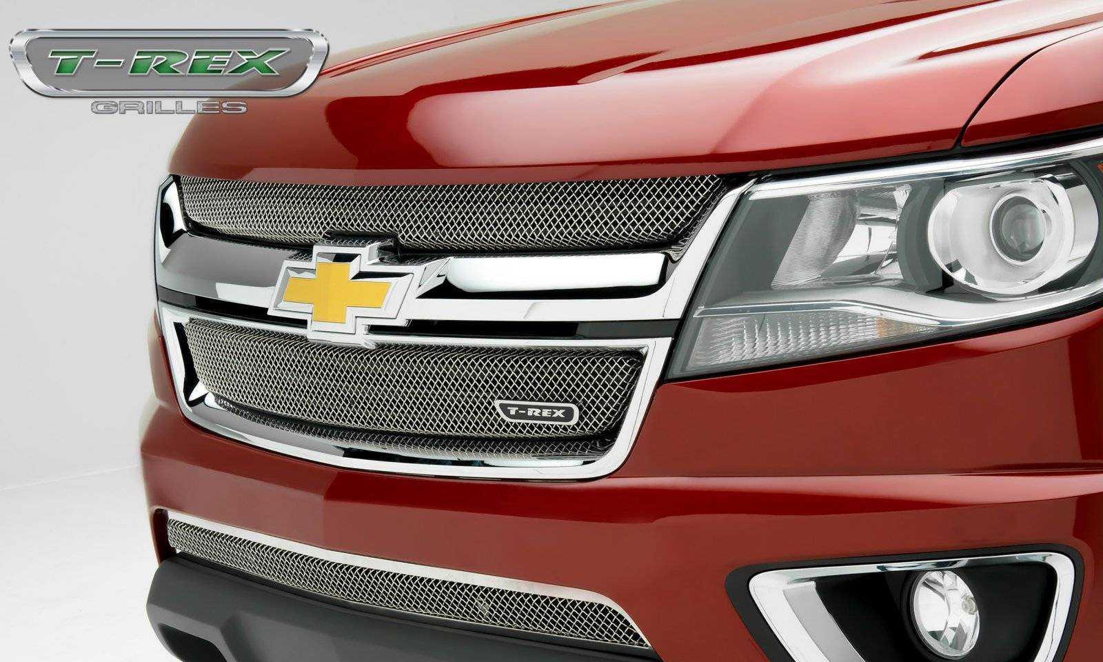 T-REX Grilles - 2015-2019 Chev Colorado Sport Grille, Chrome, 2 Pc, Overlay - PN #44267