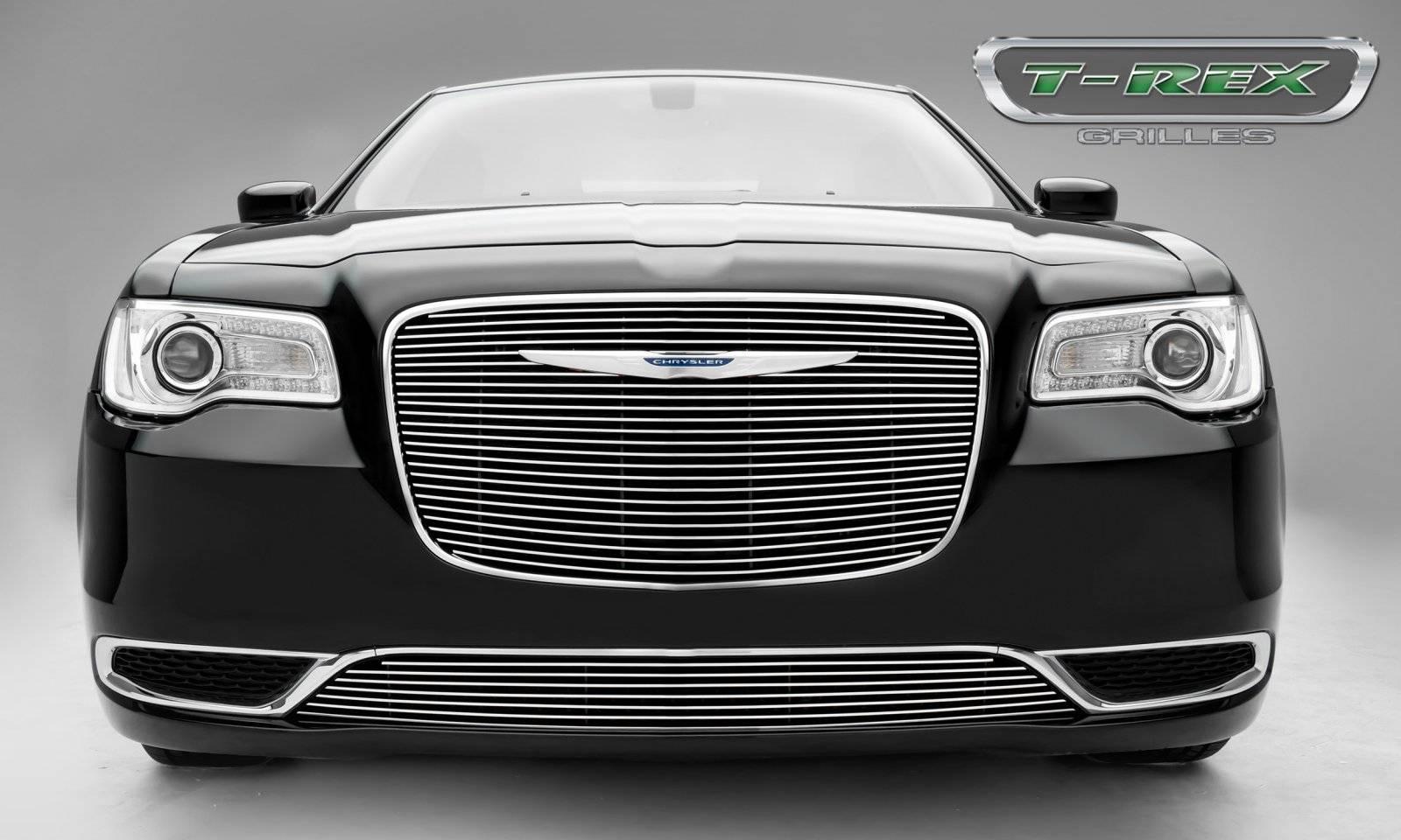T-REX Grilles - 2015-2018 Chrysler 300 Billet Grille, Polished, 1 Pc, Overlay - PN #21436