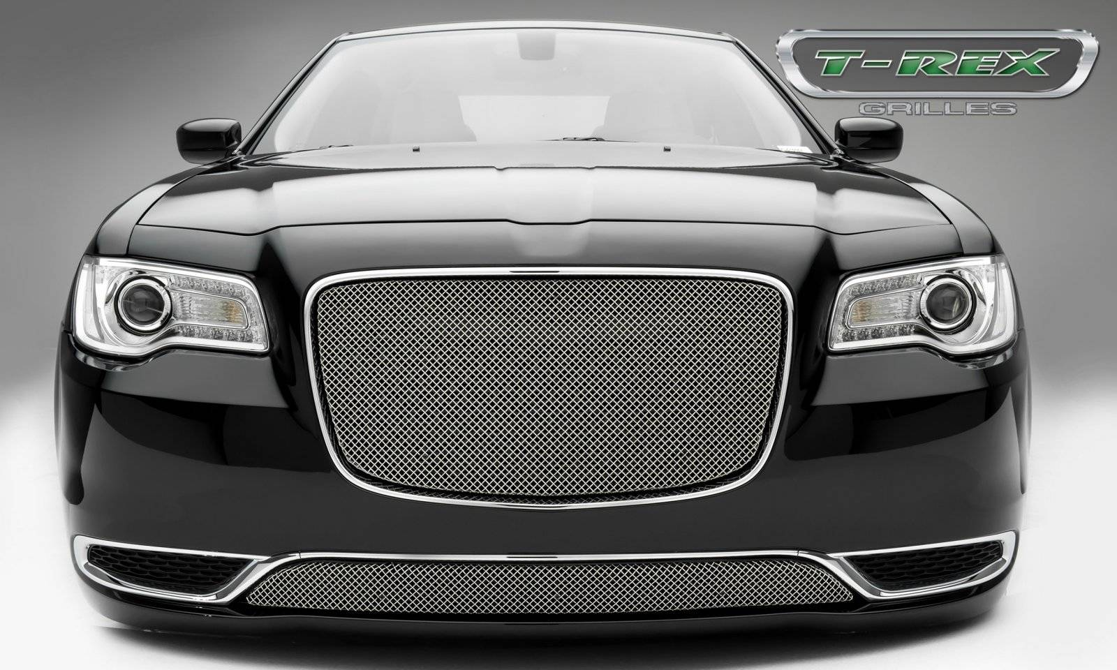 T-REX Grilles - Chrysler 300 - Sport Series - Main Grille Overlay  with Chromed  Stainless Steel - Pt # 44436