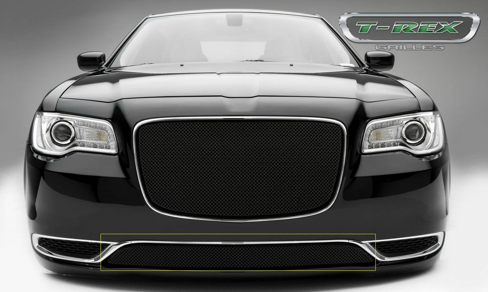 T-REX Chrysler 300 - Sport Series - Bumper Grille Overlay  with Black Powder Coat Finish - Pt # 47436