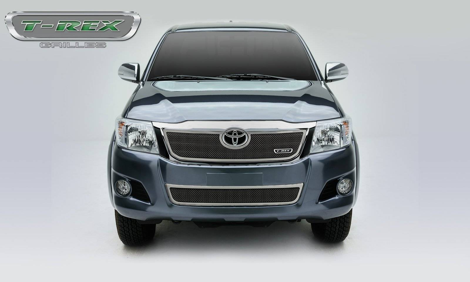 T-REX Toyota Hilux Upper Class, Formed Mesh Grille, Main, Overlay, 1 Pc, Polished Stainless Steel - Pt # 54909