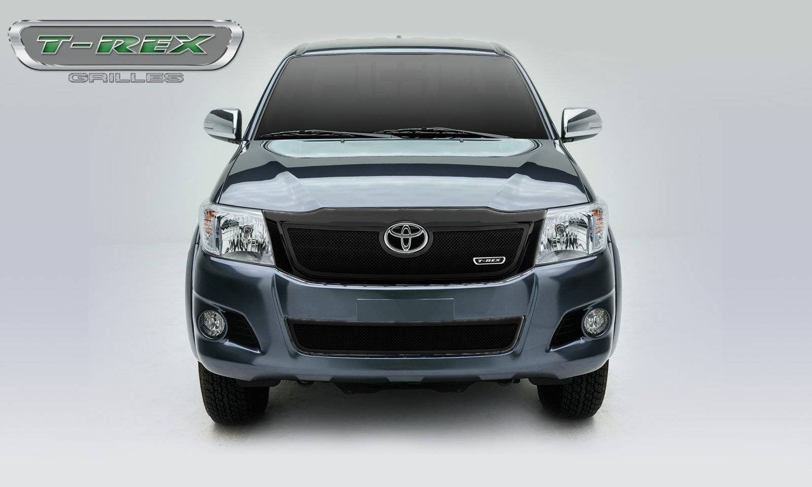 T-REX Grilles - 2012-2015 Toyota Hilux Upper Class Grille, Black, 1 Pc, Overlay - PN #51909