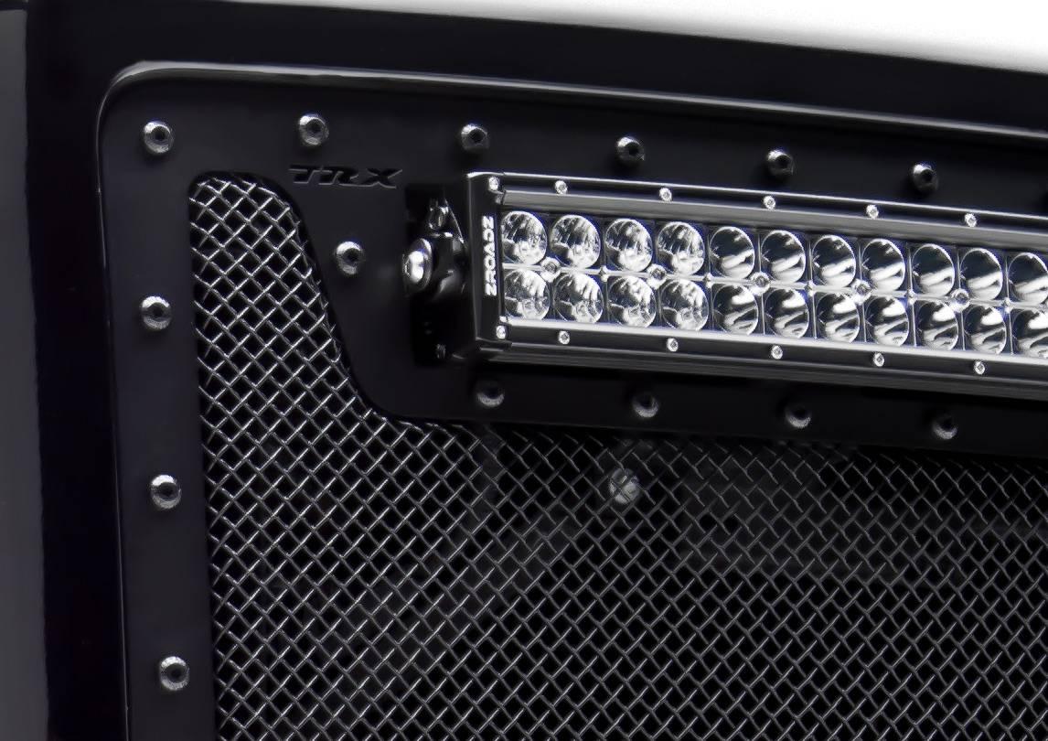 T-REX GMC Sierra X-Metal, Formed Mesh Grille, Main, Insert, 1 Pc, Black - Pt # 6712081-BR