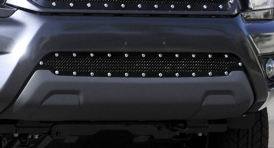 T-REX Toyota Tacoma Stealth Metal Tactical Black Studded Bumper Grille - Pt # 6729381-BR