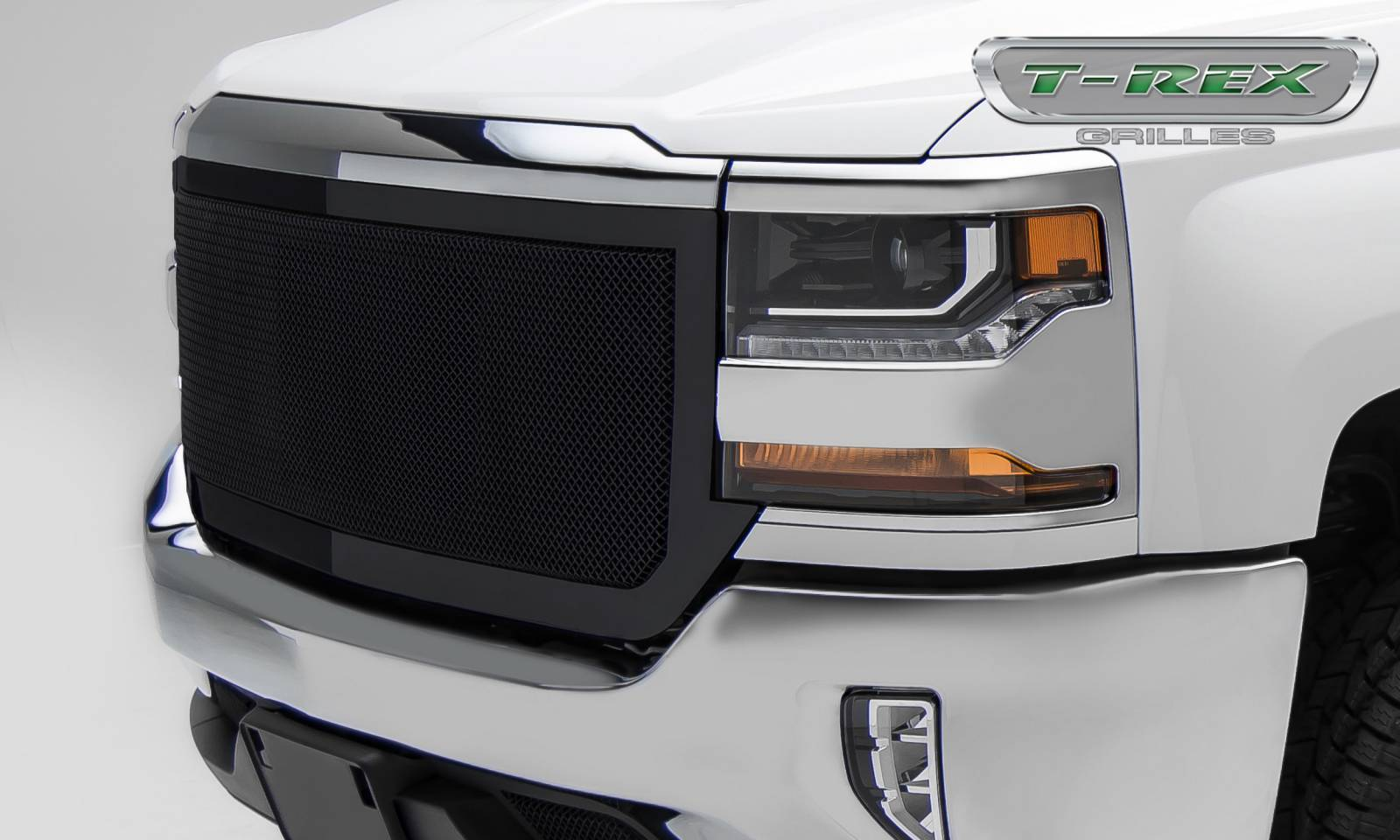 T-REX Grilles - 2016-2018 Silverado 1500 Upper Class Grille, Black, 1 Pc, Replacement, Full Opening - PN #51127