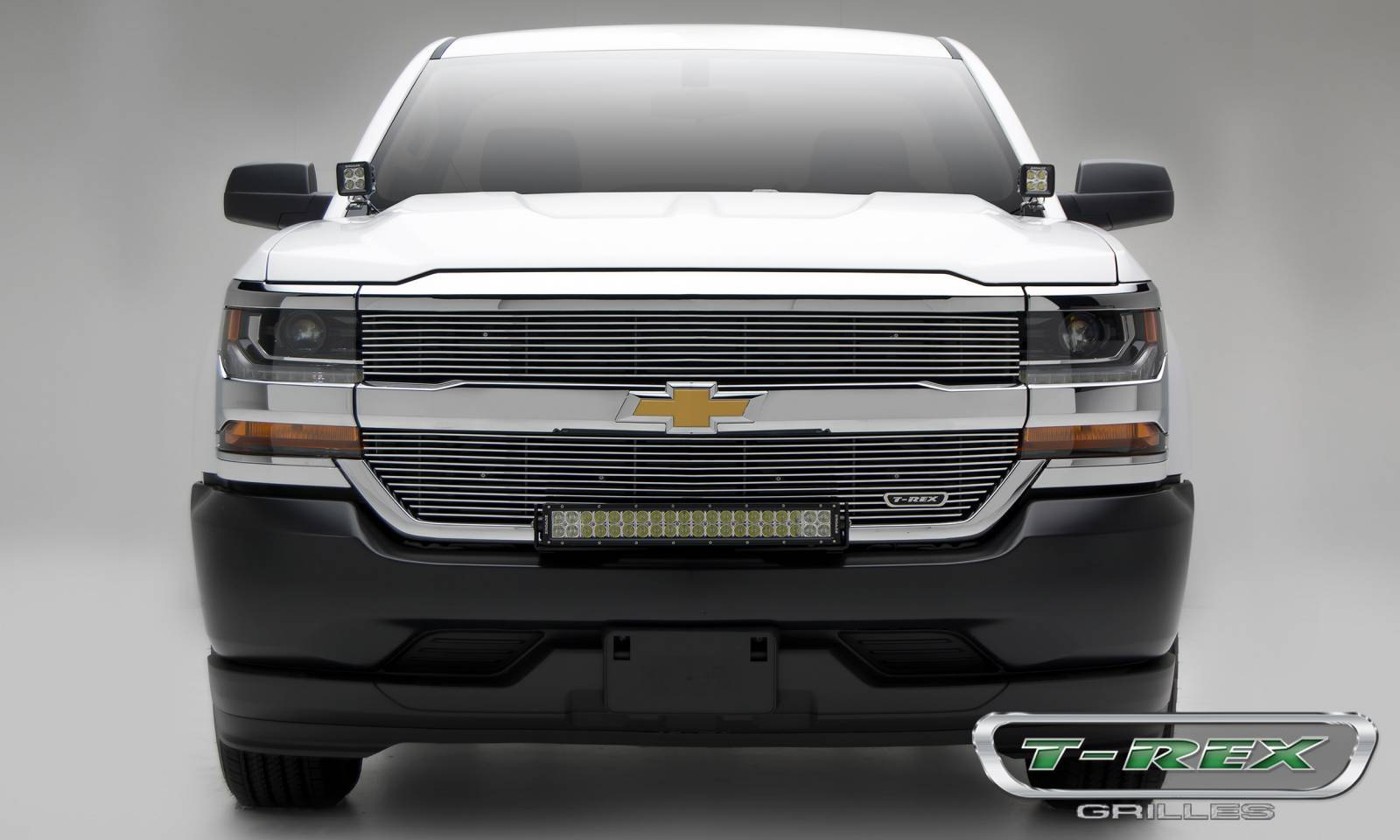 T-REX Chevrolet Silverado 1500 Laser Billet Grille, Overlay - Polished- Pt # 6211270