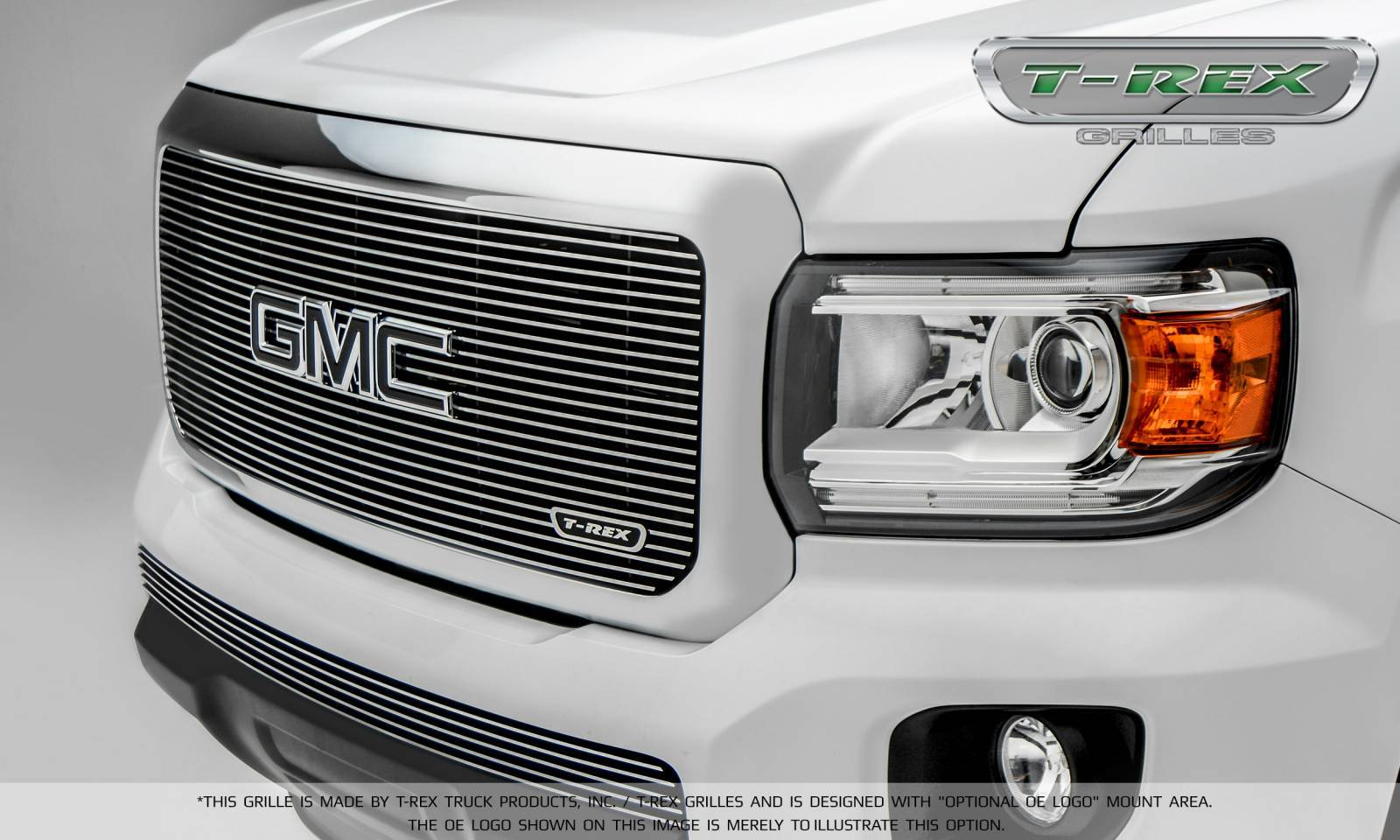 T-REX GMC Canyon Billet Main Grille, Insert - Polished- Pt # 20371