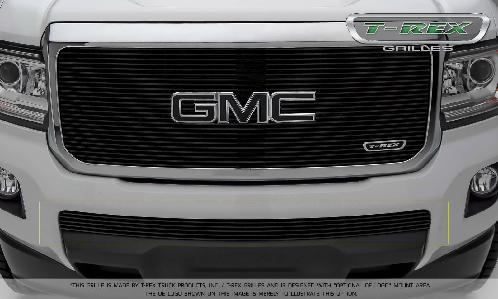 T-REX Grilles - 2015-2019 GMC Canyon Billet Bumper Grille, Black, 1 Pc, Insert - PN #25371B