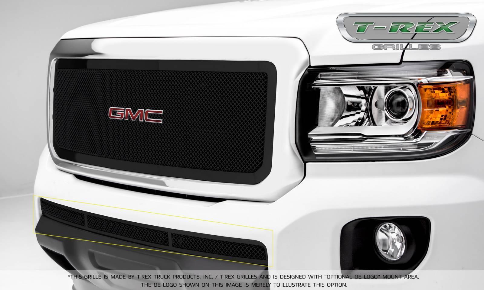 T-REX GMC Canyon Upper Class Bumper Grille, Overlay - Black - Pt # 52371