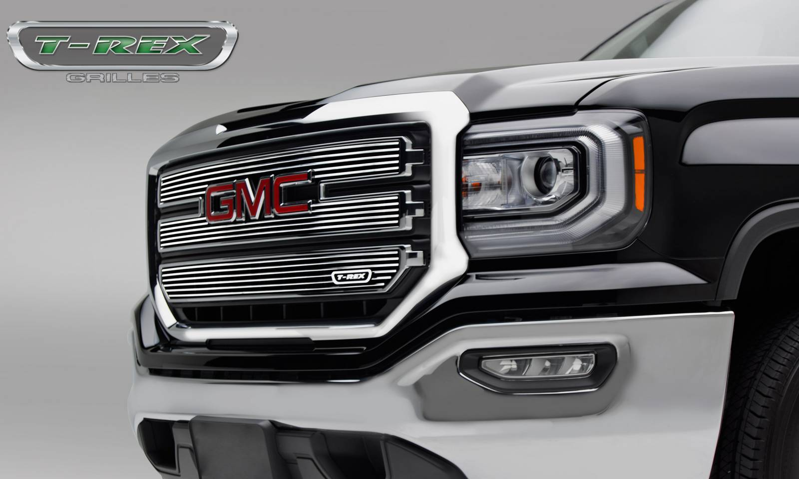 GMC Sierra 1500 SLE - Laser Billet Main Grille - 3 PC Overlay - Polished - Pt # 6212130