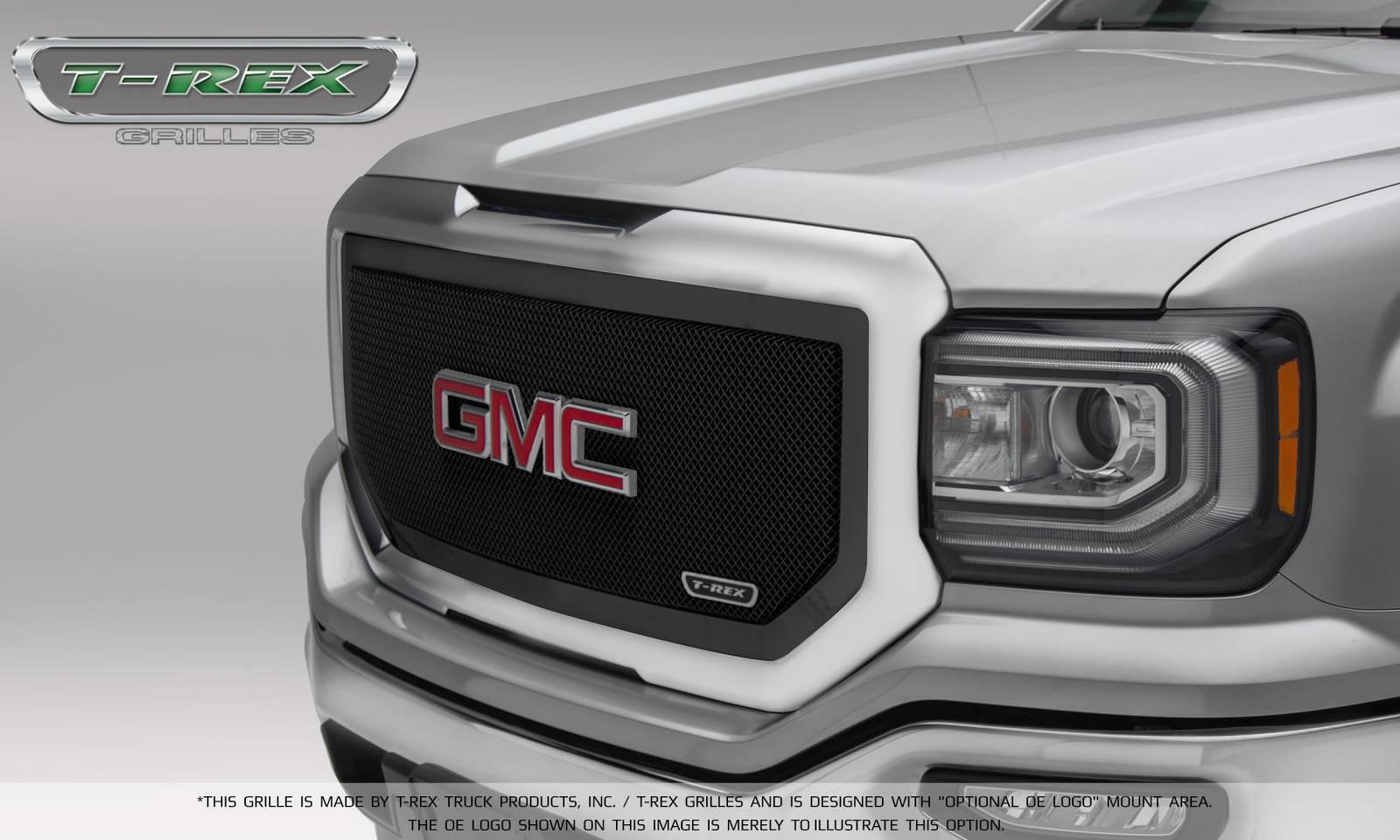 T-REX GMC Sierra 1500 Upper Class Main Grille Insert - Black - Pt # 51213