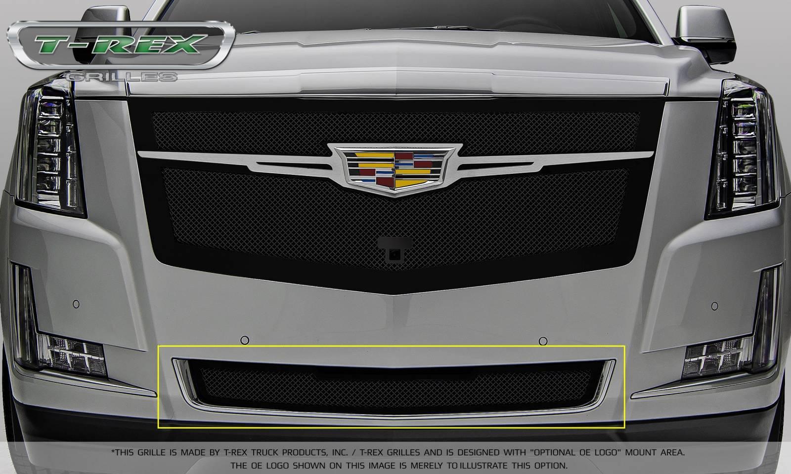 Cadillac Escalade Upper Class Bumper Grille Overlay - Black - Pt # 52181