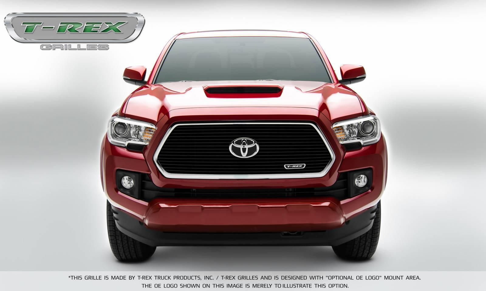 T-REX Toyota Tacoma Laser Billet Grille Insert - All Black - Pt # 6219411