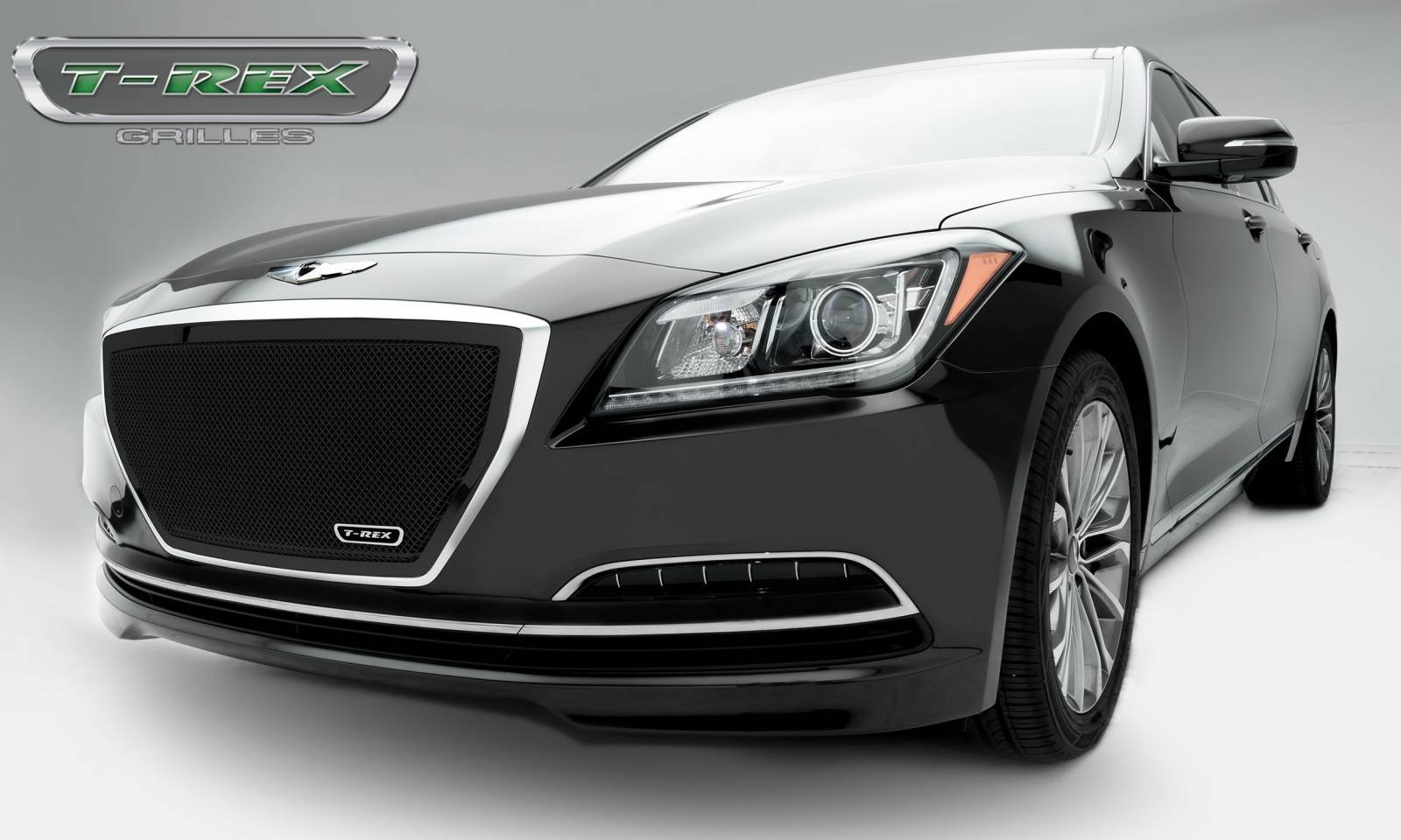 T-REX Hyundai Genesis Sedan Upper Class Black Powder Coated Mesh Grille - Overlay - Pt # 51499
