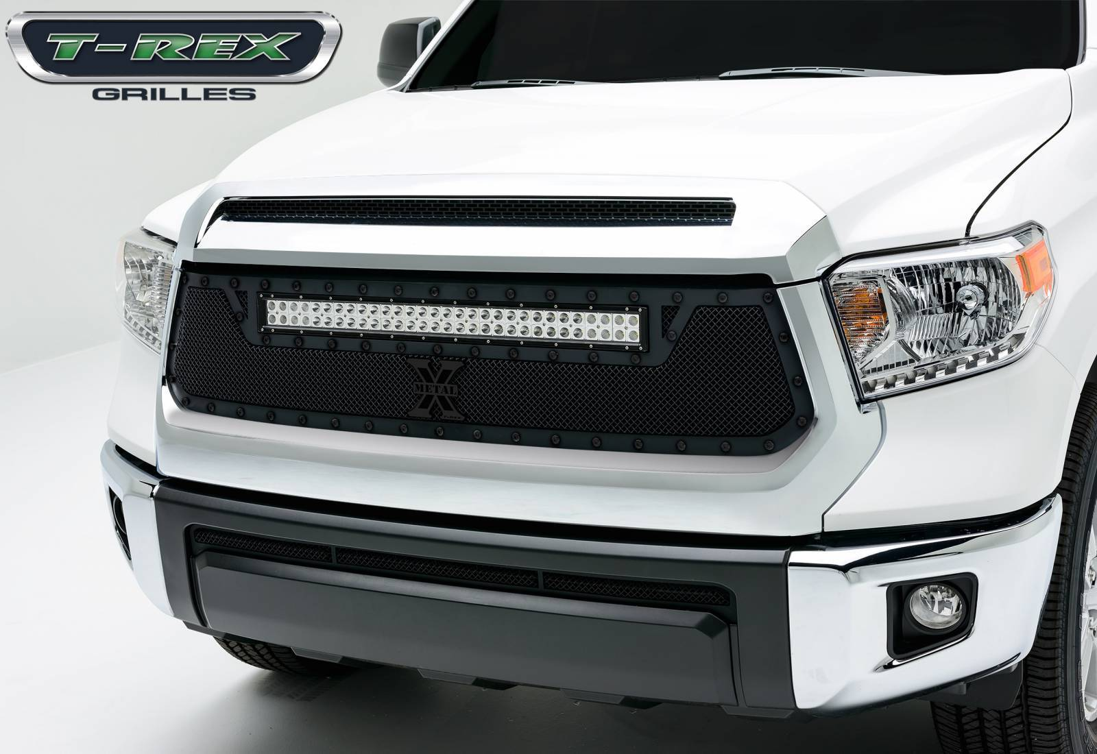 """T-REX Grilles - Toyota Tundra TORCH Series LED Light Grille,1 - 30"""" LED Bar, Formed Mesh, Main Grille, Replacement, 1 Pc - Pt # 6319641-BR"""