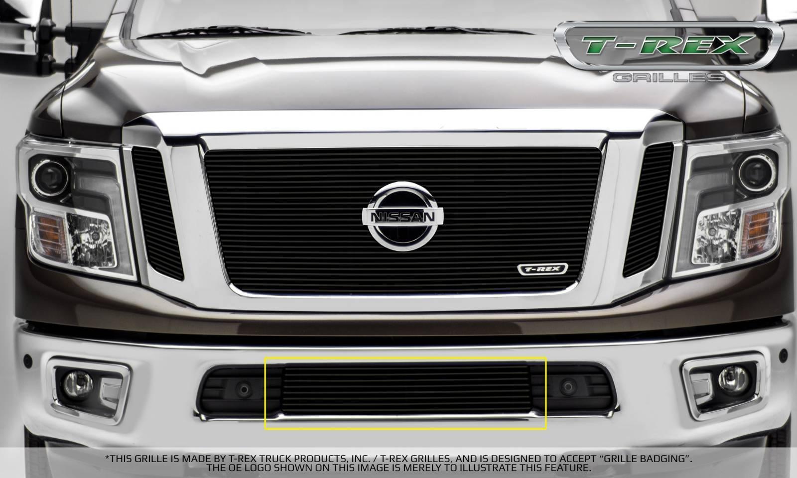 T-REX Nissan Titan - Billet Series - Bumper Grille Overlay - Black - Pt # 25785B