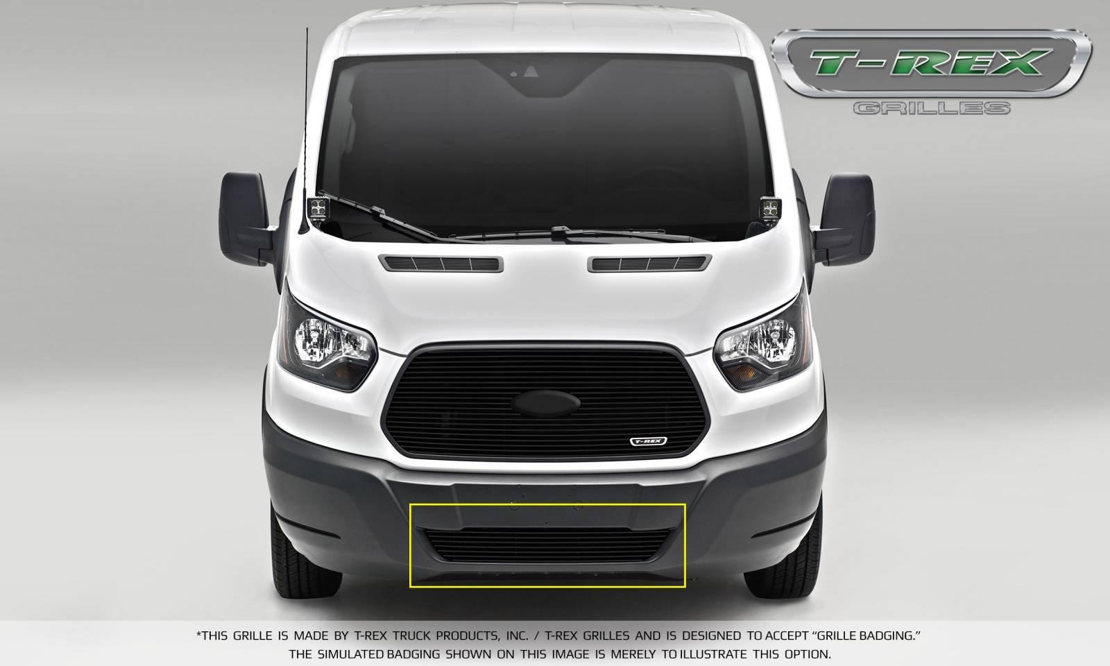 T-REX Grilles - 2016-2018 Ford Transit Billet Grille, Black, 1 Pc, Overlay - PN #6255751