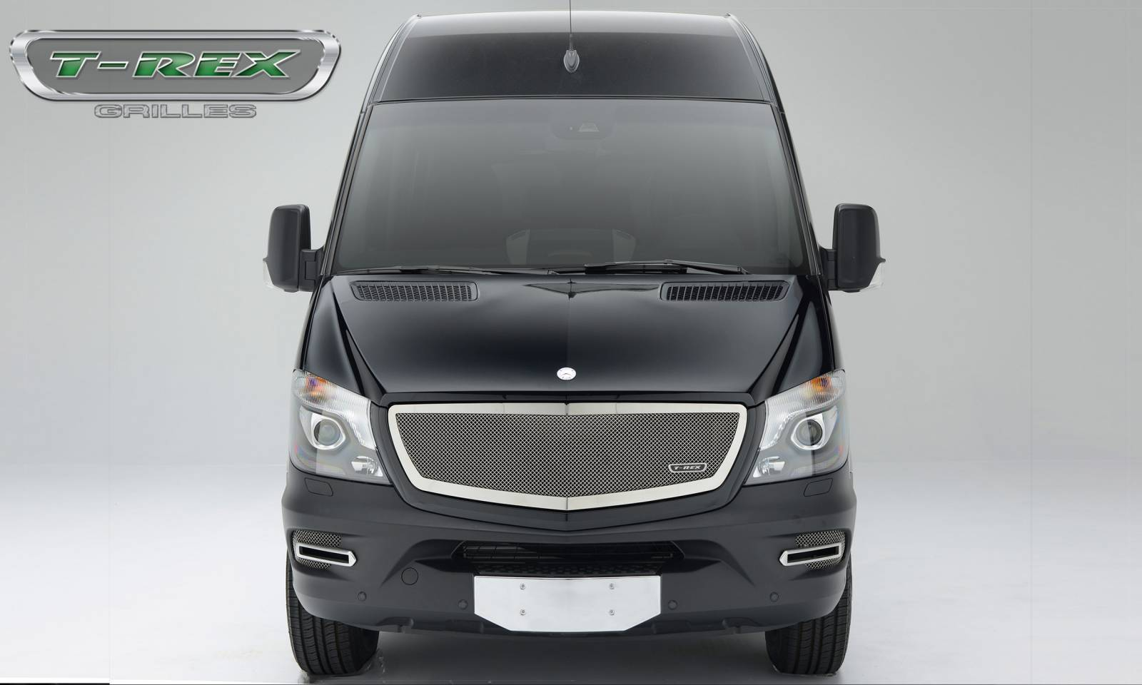 T-REX Mercedes Sprinter 2014-2017 Mercedes Benz Sprinter Van, Upper Class, Formed Mesh Grille, Main, Replacement, Chromed Stainless Steel - Pt # 56850