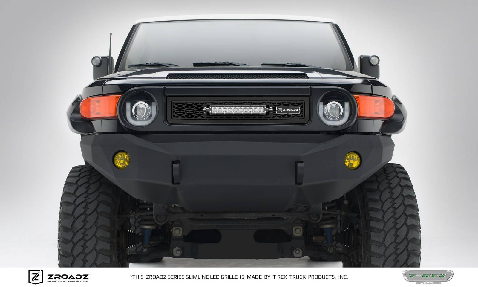 T-REX Toyota FJ Cruiser - ZROADZ Series - Main Insert - Grille w/ One 10 Inch Slim Line Single Row LED Light Bar - Includes Universal Wiring Harness - Part# Z319321
