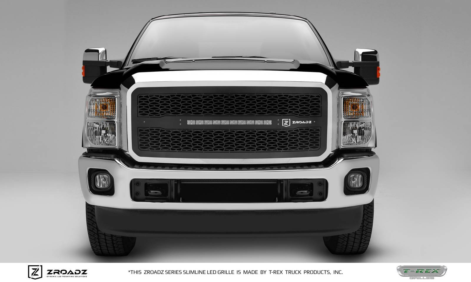 T-REX Grilles - Ford F250 / F350 Super Duty - ZROADZ Series - Main Insert - Grille w/ One 20 Inch Slim Line Single Row LED Light Bar - Part# Z315461