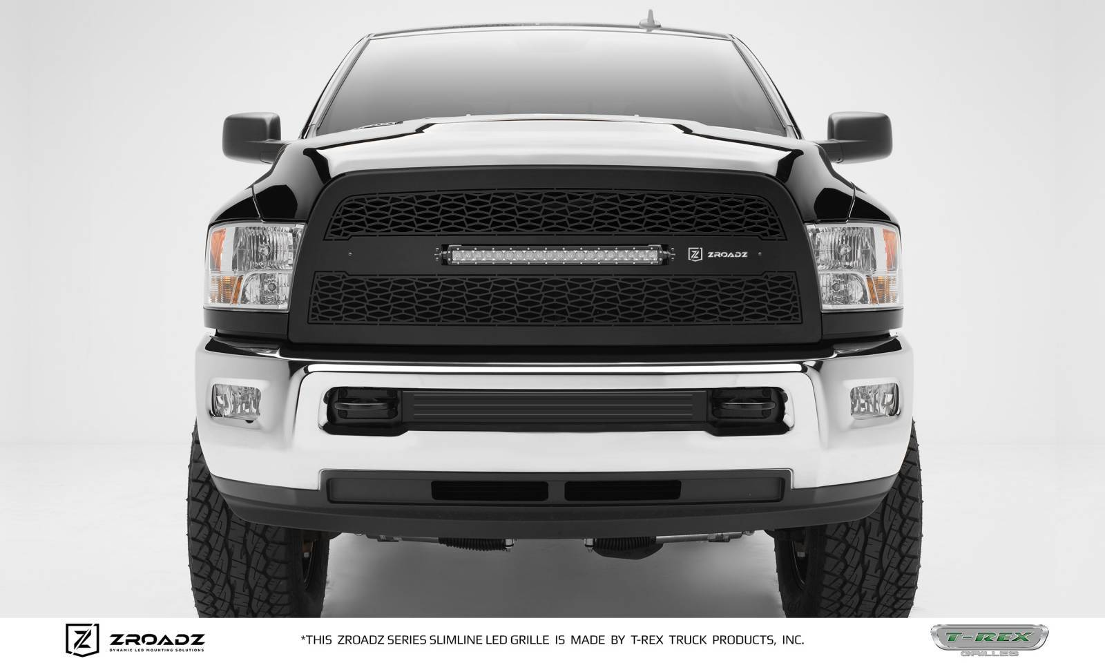 "T-REX Grilles - 2013-2018 Ram 2500, 3500 ZROADZ Grille, Black, 1 Pc, Replacement, Incl. (1) 20"" LED - PN #Z314521"