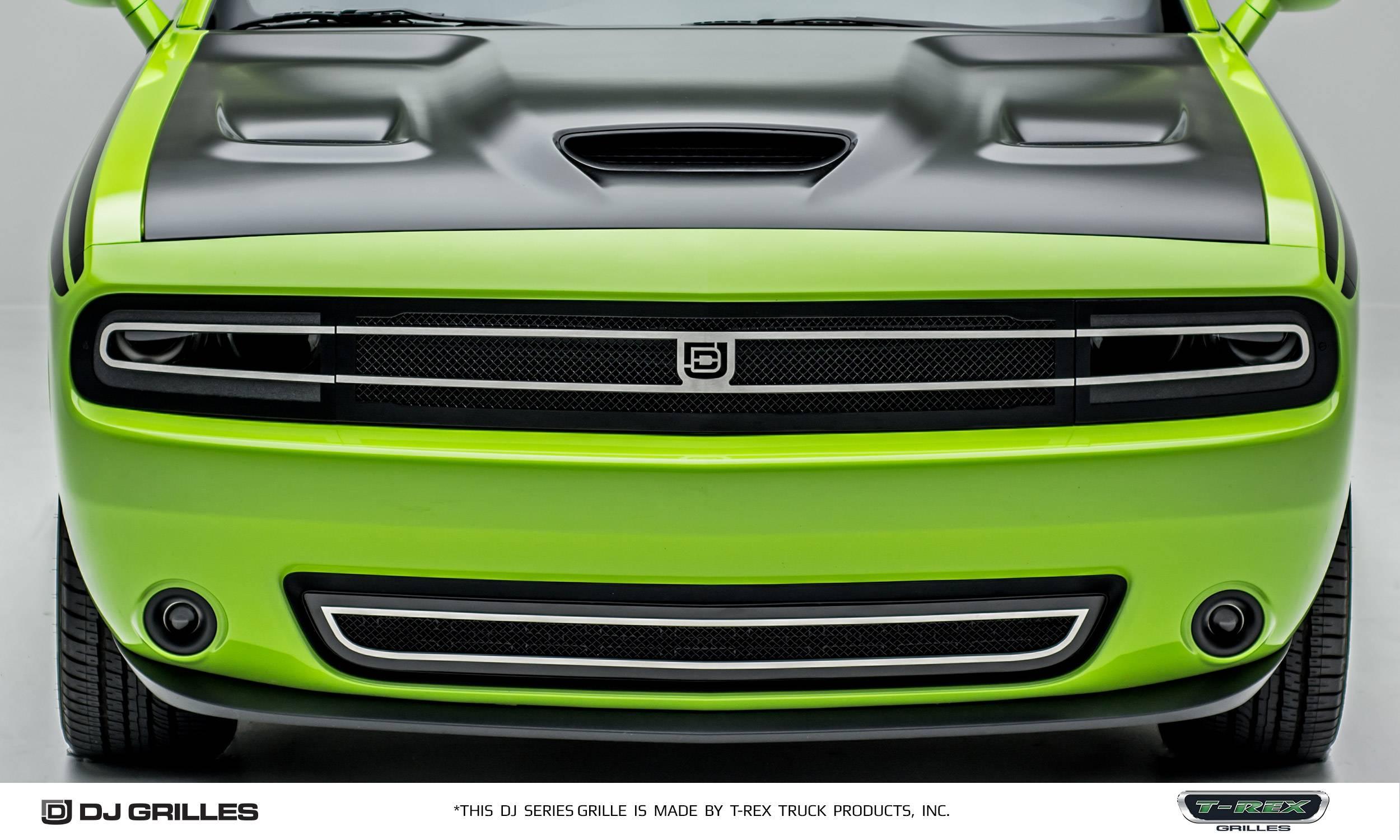 T-REX Dodge Challenger - DJ Series - Hidden Headlight - Phantom Style - Main Grille Insert/Overlay - Pt # DJ14191