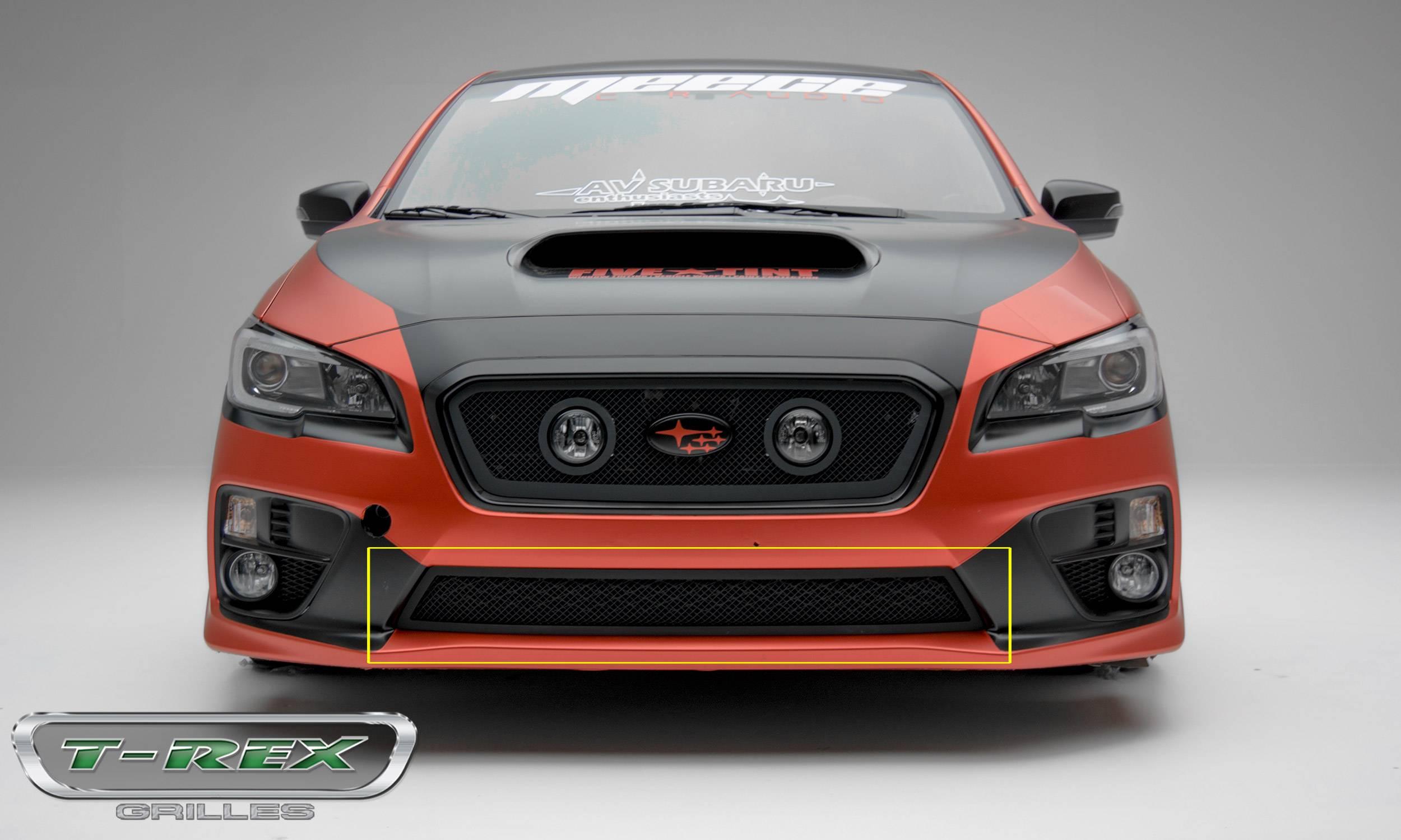 T-REX Grilles - Subaru Impreza WRX - Upper Class - Bumper Grille - Black Mesh Overlay - Part# 52982