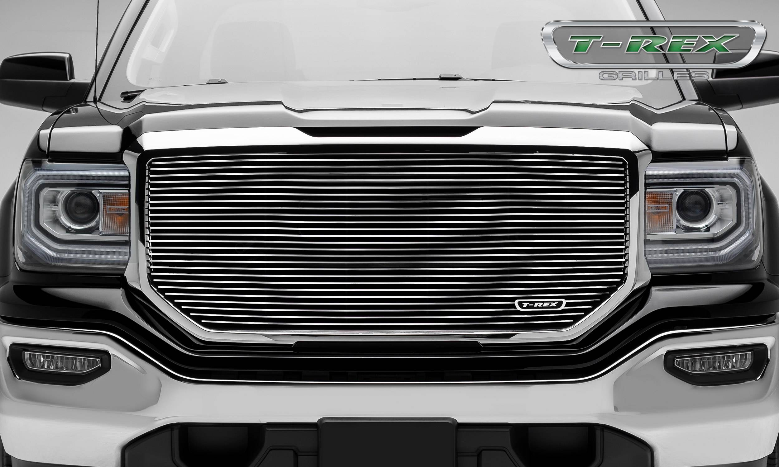 T-REX GMC Sierra 1500 Laser Billet Main Grille without Logo Cutout - Insert - Polished - Pt # 6202140