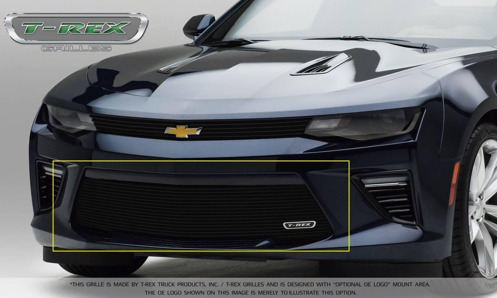 T-REX Grilles - T-REX Chevrolet Camaro V6 Model - Billet Series - Bumper Grille Overlay with Black Powder Coated Finish - Pt # 25033B