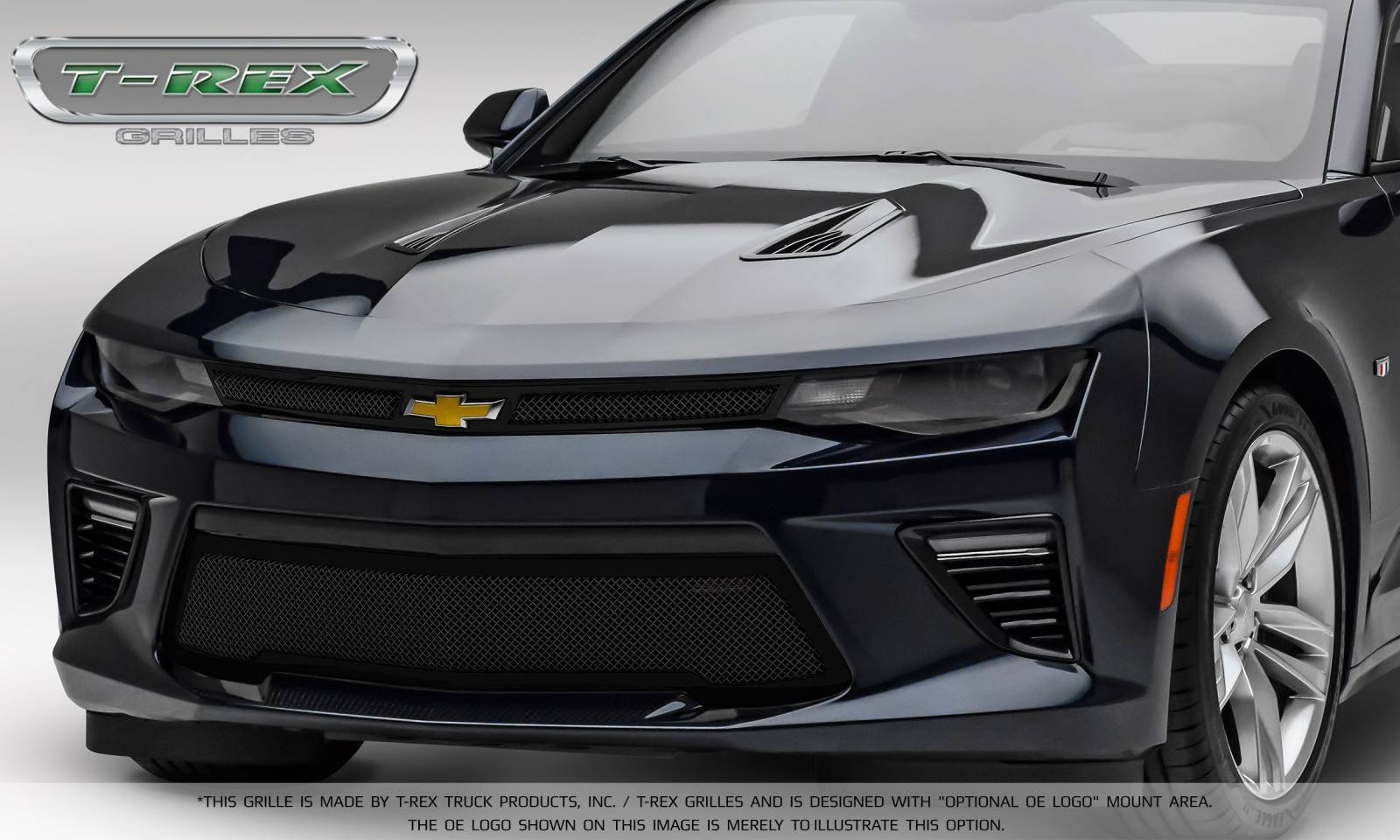 T-REX Grilles - T-REX Chevrolet Camaro V6 - Upper Class - Main Grille Overlay with Black Powder coat Finish - Pt # 51034