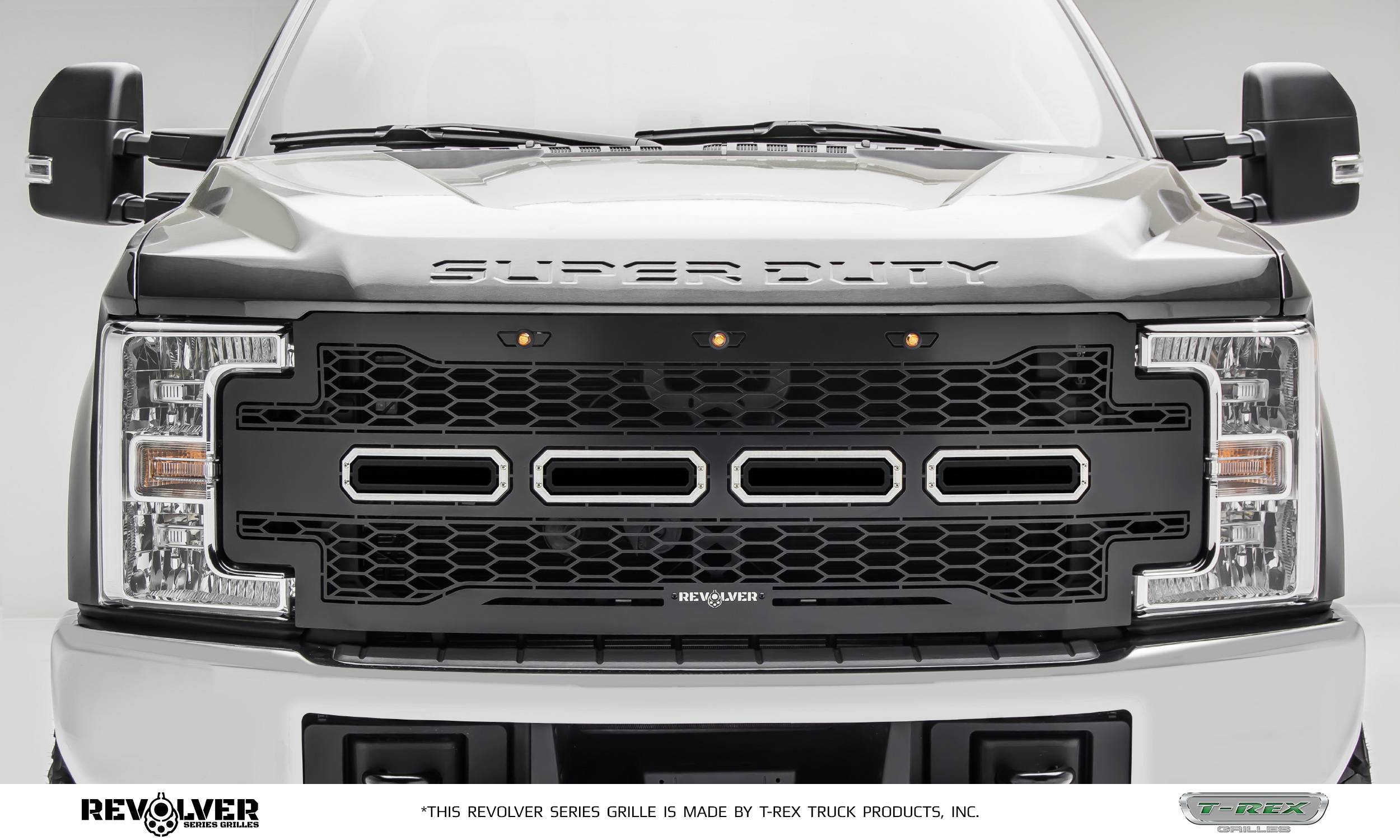 T-REX Grilles - T-REX Ford Super Duty - Revolver Series - w/o Forward Facing Camera - Main Replacement - Grille - Part # 6515711