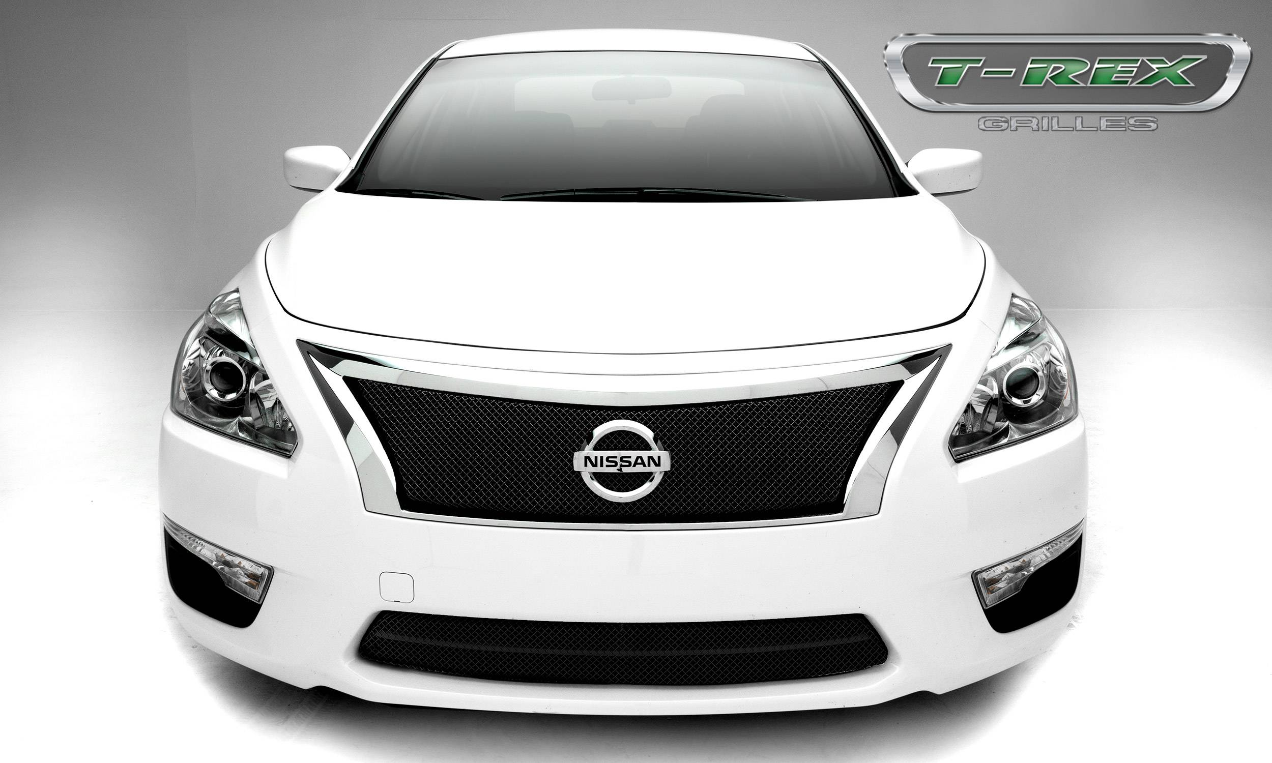 T-REX Grilles - Nissan Altima, Sport Series, Formed Mesh Grille, Main, 1 Pc, Overlay, Black Powdercoated Mild Steel - #46768