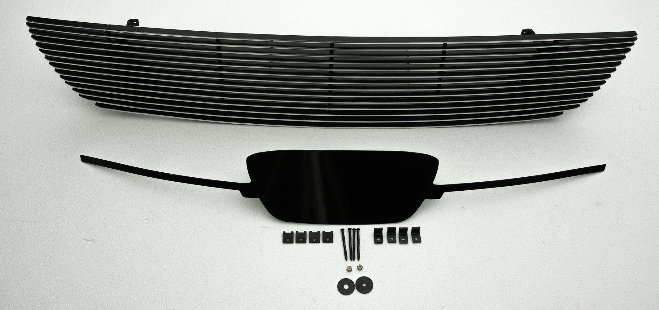 Ford Mustang V6 Coupe,  Billet Grille, Main, Overlay, 1 Pc, Polished Aluminum Bars, No Logo cutout