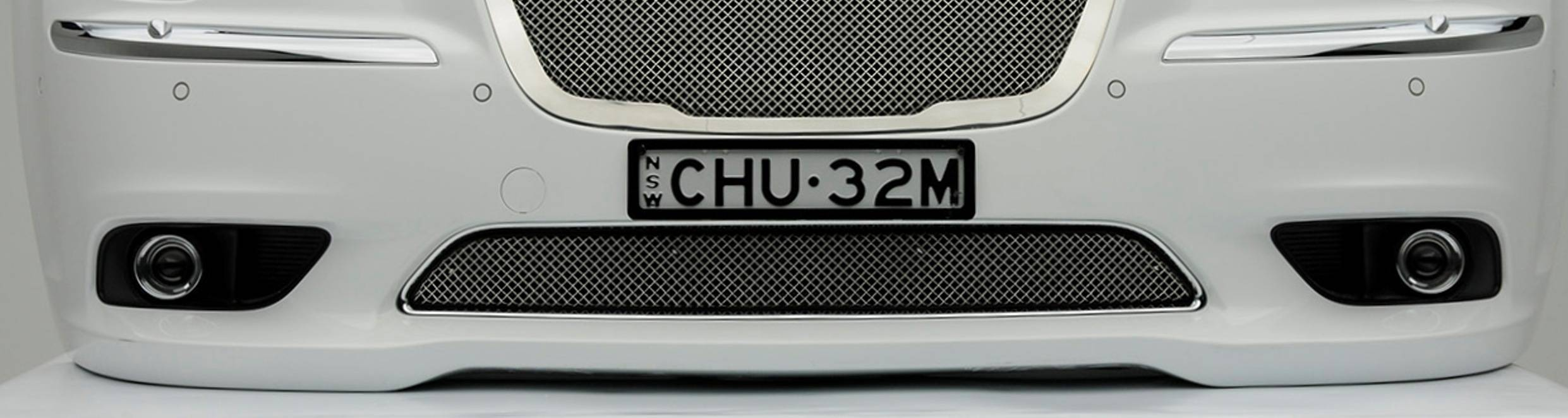 Chrysler 300, Sport Series, Formed Mesh Grille, Bumper, Overlay, 1 Pc, Triple Chrome Plated Stainless Steel, for Australian Model