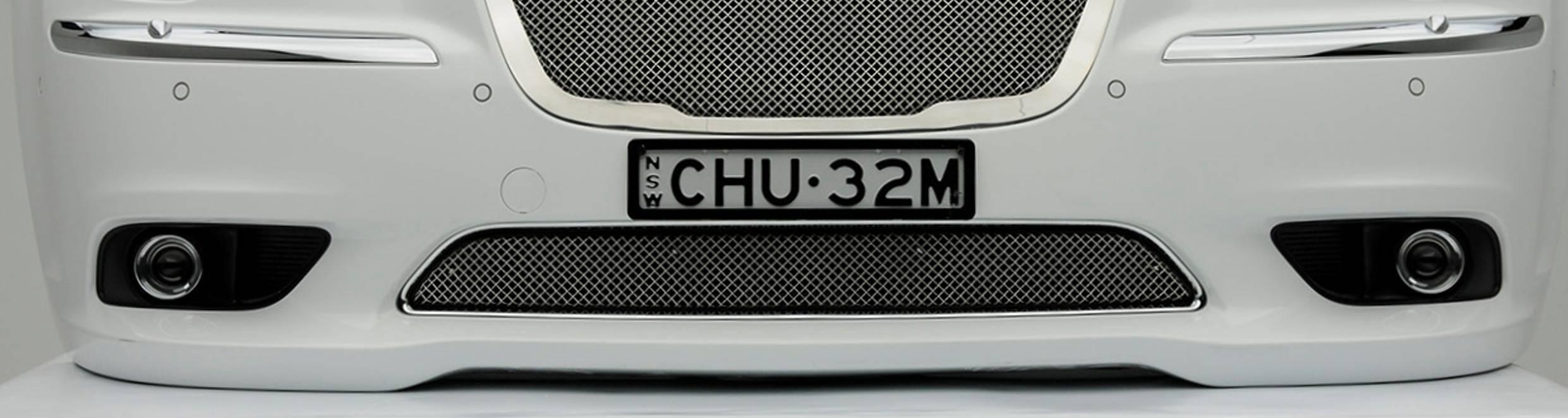 Chrysler 300, Sport Series, Formed Mesh Grille, Bumper, Overlay, 1 Pc, Triple Chrome Plated Stainless Steel, for Australian Model
