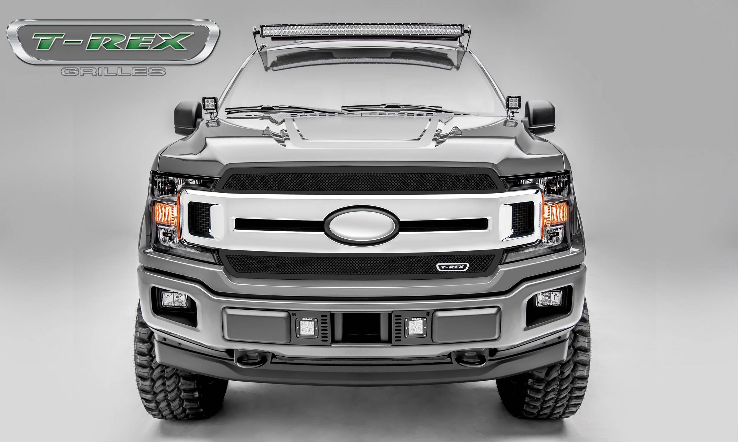 T-REX Ford F-150 - Upper Class Series - 2 PC Main Grille Overlay / Insert with Black Powdercoat Finish - Pt # 51711