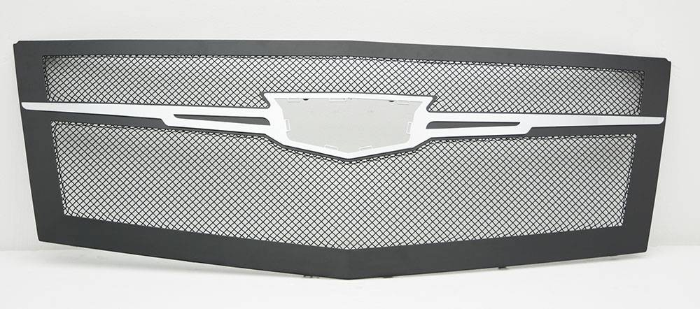 T-REX Cadillac Escalade Upper Class Main Grille Replacement - Black w/ Brushed Center Trim Piece - Pt # 51184