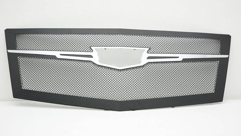 T-REX Cadillac Escalade Upper Class Main Grille Replacement - Black w/ Chrome Plated Center Trim Piece - Pt # 51185