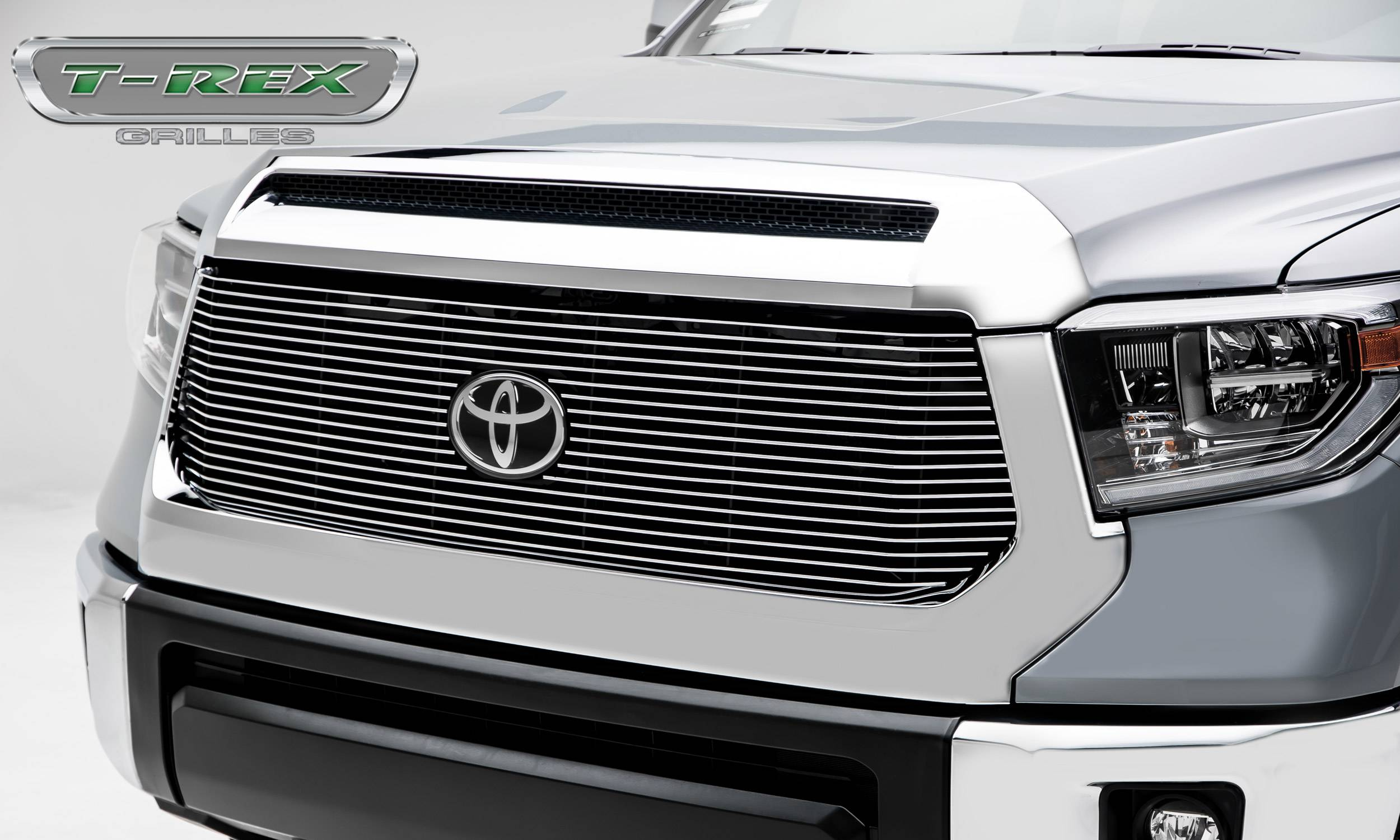 T-REX Grilles - 2018-2019 Tundra Billet Grille, Polished, 1 Pc, Replacement - PN #20966