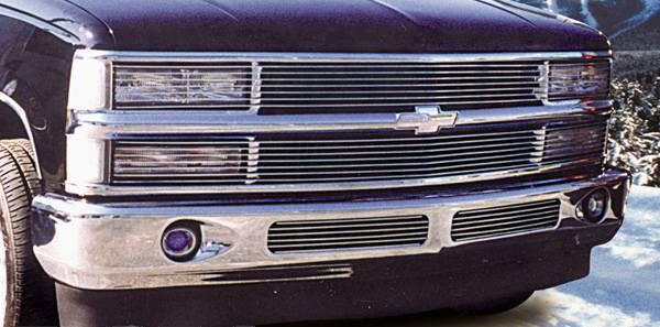 Chevrolet Silverado Phantom Billet Insert - No H/Lamp Recess Needed 7 Bars - Black Pt # 20060B