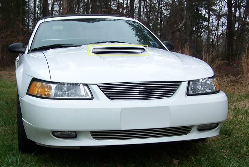 Ford Mustang GT Models Only  Billet Hood Scoop Insert - Will not fit 03-04 Models 5 Bars - GT MODELS ONLY - Pt # 20512
