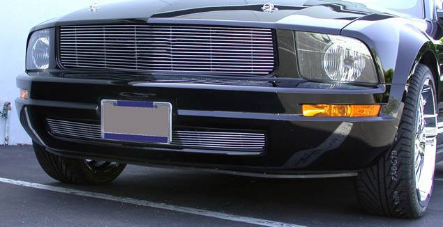 T-REX Grilles - 2005-2009 Mustang LX Billet Grille, Polished, 1 Pc, Overlay - PN #20515